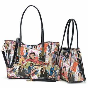 Michelle Obama Magazine Cover Printed Handbags